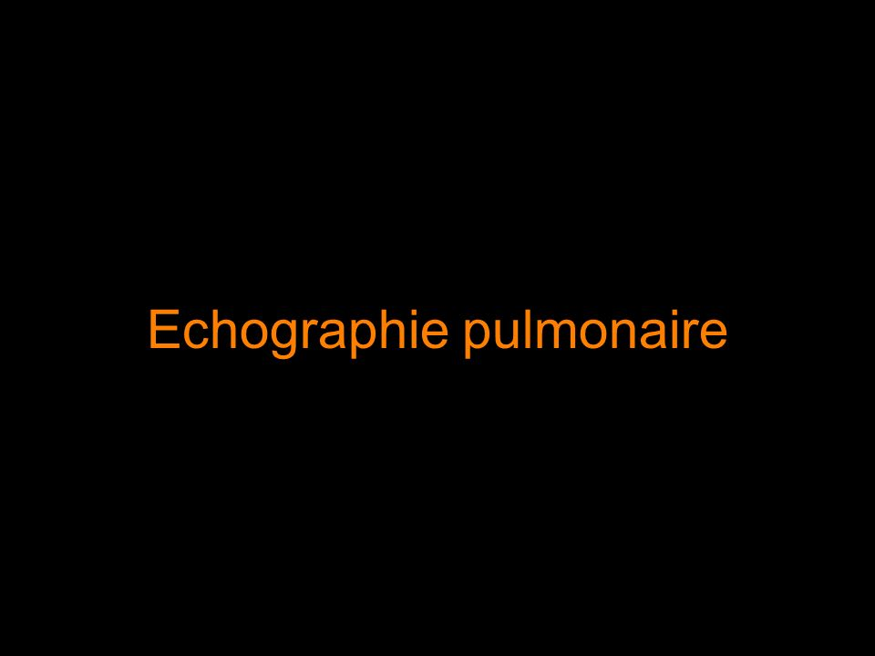 Echographie pulmonaire