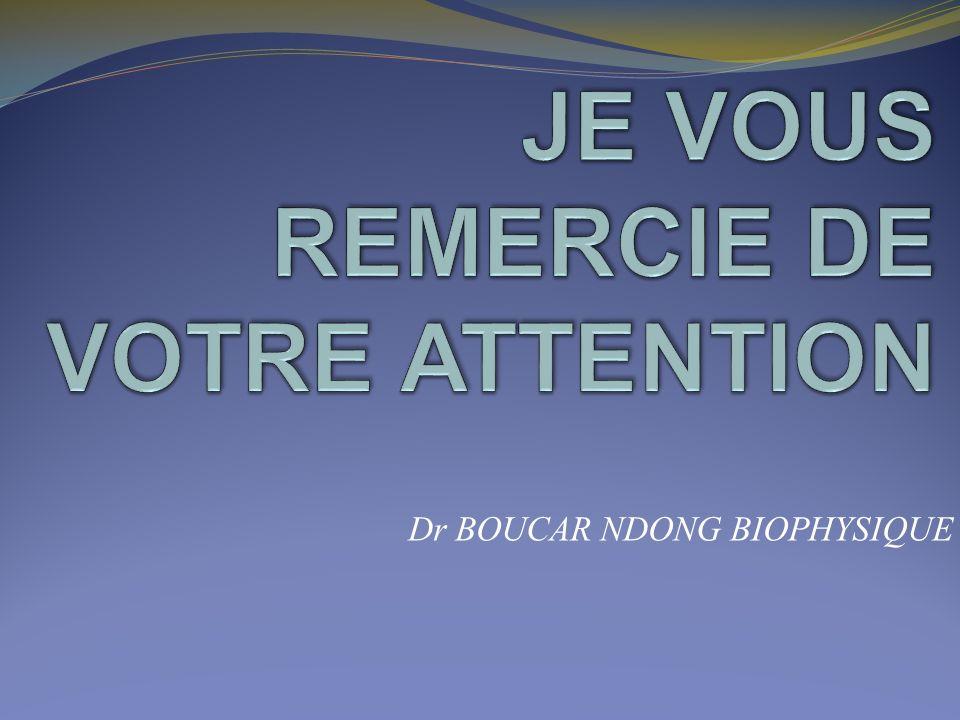 Dr BOUCAR NDONG BIOPHYSIQUE