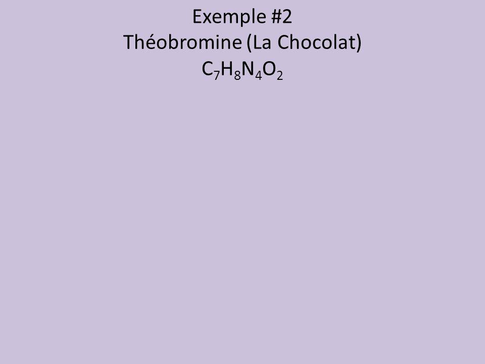 Exemple #2 Théobromine (La Chocolat) C 7 H 8 N 4 O 2