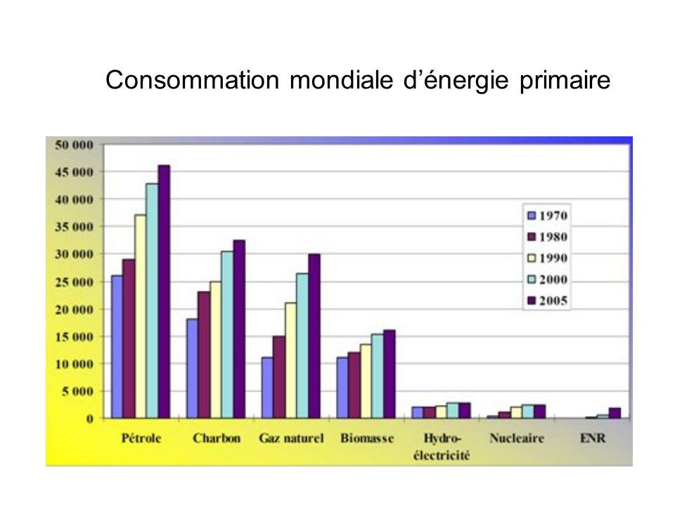 Consommation mondiale dénergie primaire
