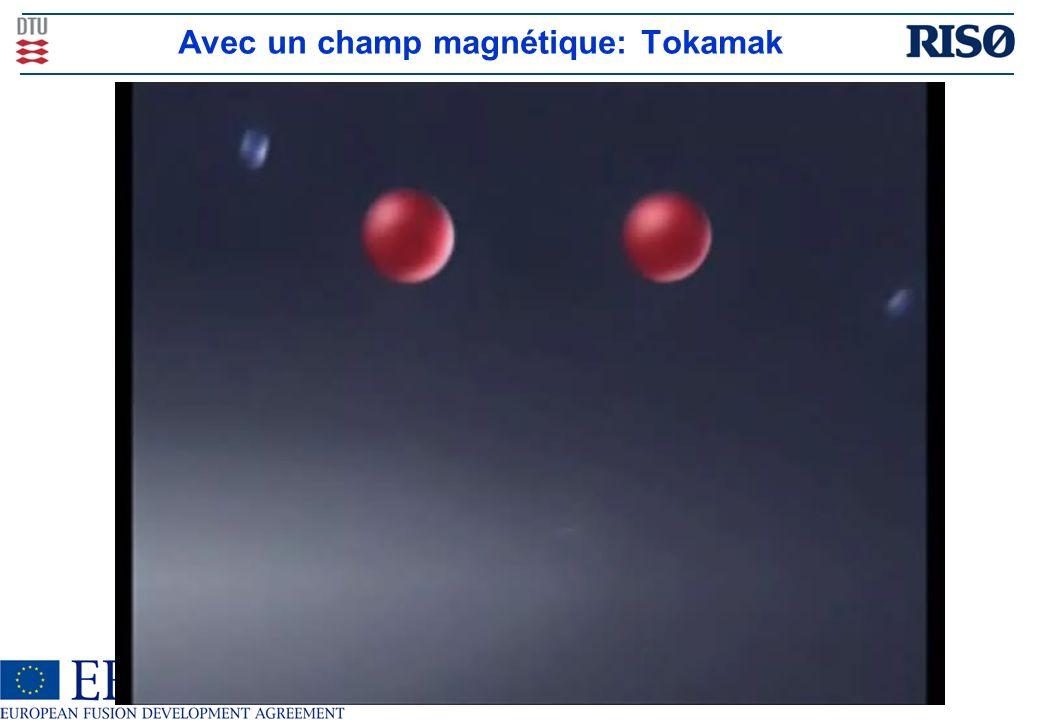 Avec un champ magnétique: Tokamak