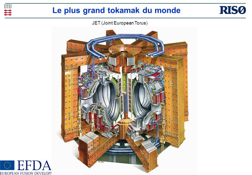 Le plus grand tokamak du monde JET (Joint European Torus)