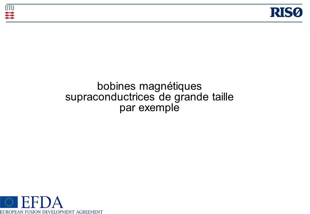 bobines magnétiques supraconductrices de grande taille par exemple