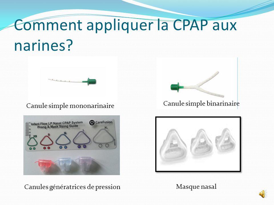 Comment appliquer la CPAP aux narines.