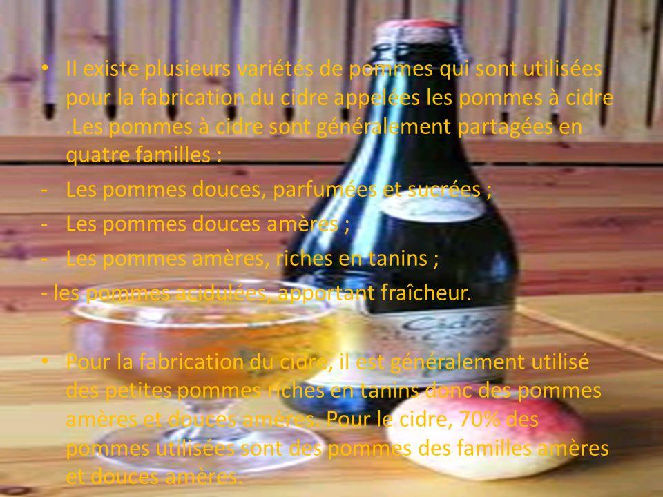 Introduction II existe plusieurs variétés de pommes qui sont utilisées pour la fabrication du cidre appelées les pommes à cidre.Les pommes à cidre son