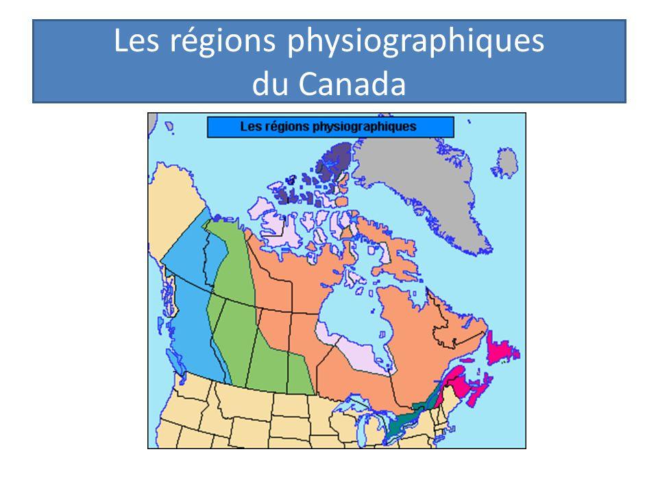 Le profile des régions physiographiques du Canada 1.La Cordillère de louest 2.Les plaines intérieures 3.Le bouclier canadien 4.Les basses terres des Grands lacs 5.Les basses terres du St.