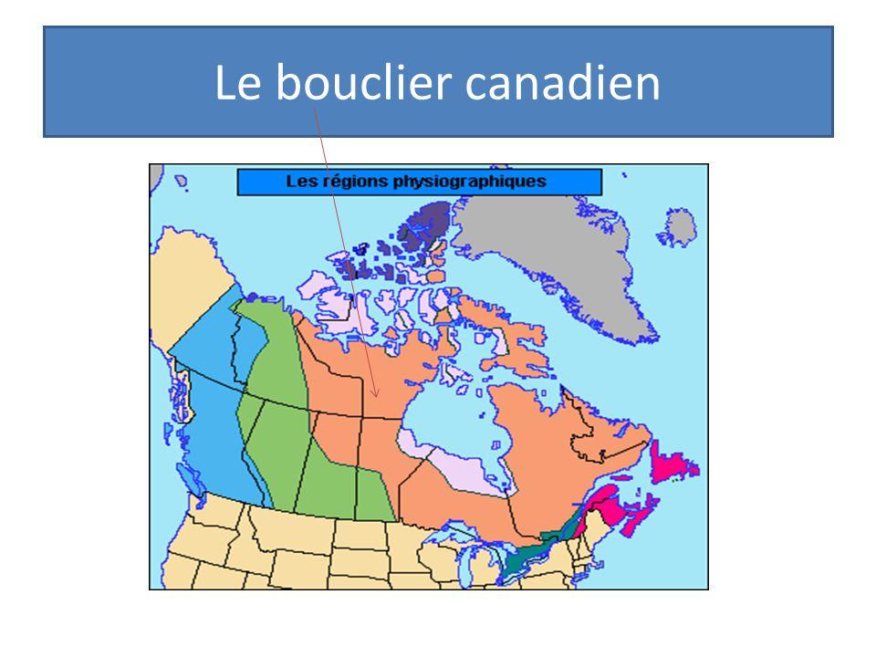 La formation du bouclier canadien Tous les continents ont en leur centre une masse de roches ignées, anciennes et rigides = bouclier.