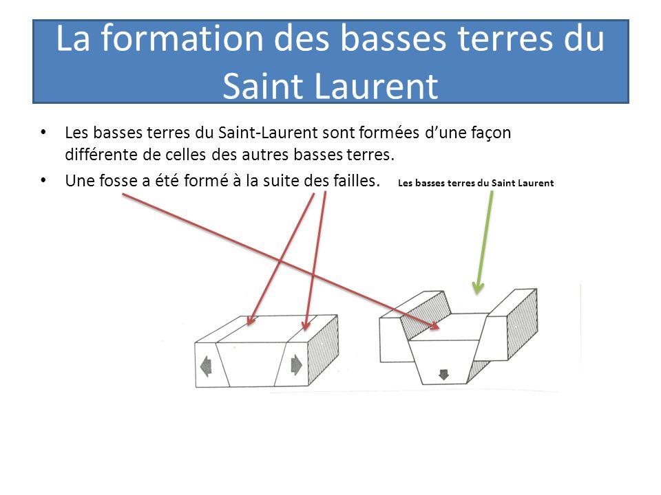 La formation des basses terres du Saint Laurent Les basses terres du Saint-Laurent sont formées dune façon différente de celles des autres basses terr