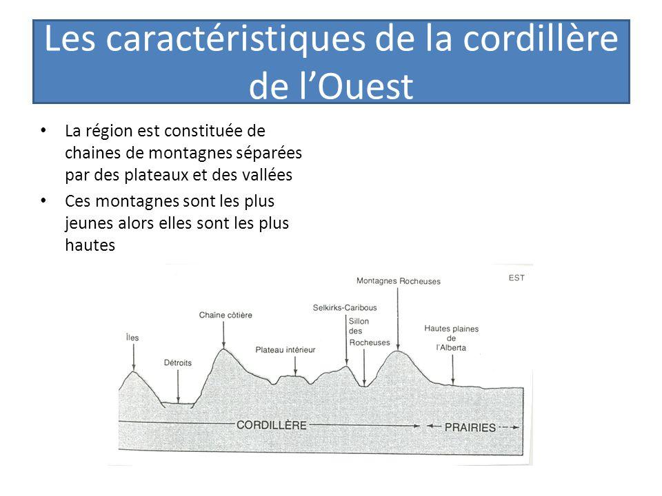 Les caractéristiques de la cordillère de lOuest La région est constituée de chaines de montagnes séparées par des plateaux et des vallées Ces montagne
