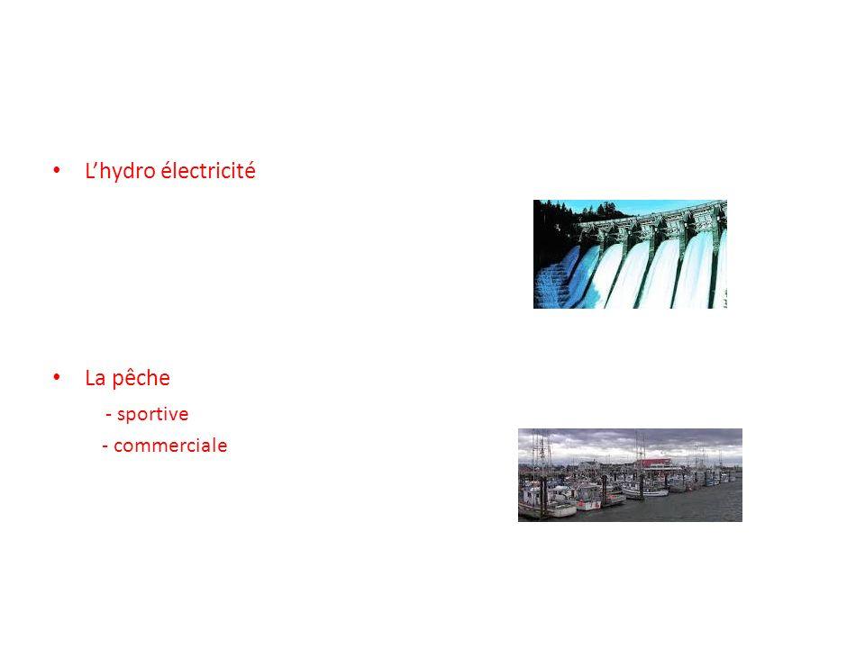 Lhydro électricité La pêche - sportive - commerciale