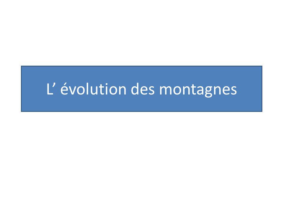 L évolution des montagnes