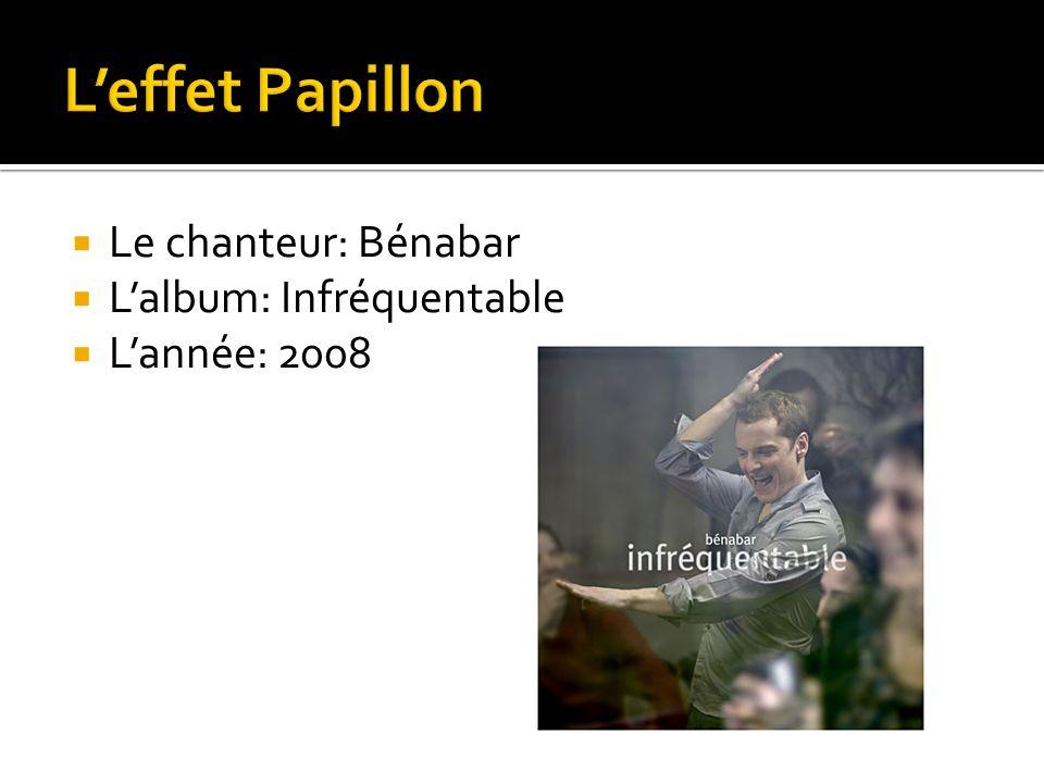Le chanteur: Bénabar Lalbum: Infréquentable Lannée: 2008