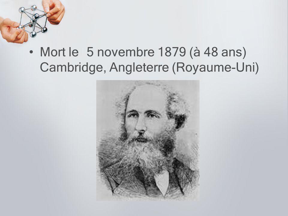 Mort le 5 novembre 1879 (à 48 ans) Cambridge, Angleterre (Royaume-Uni)