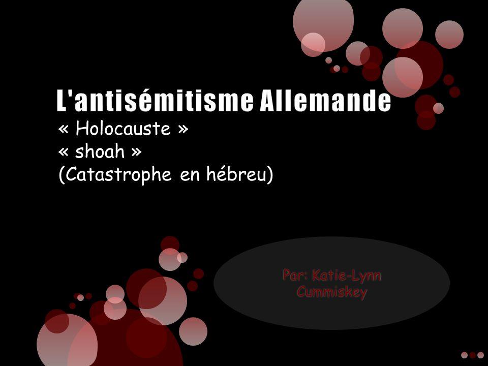 « Holocauste » « shoah » (Catastrophe en hébreu)