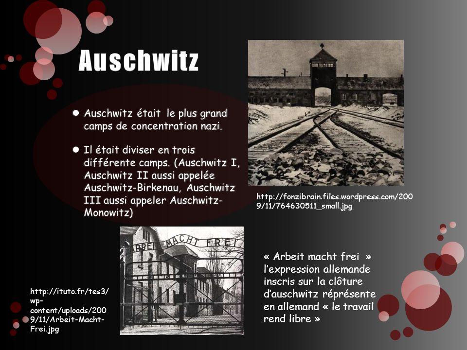 http://ituto.fr/tes3/ wp- content/uploads/200 9/11/Arbeit-Macht- Frei.jpg « Arbeit macht frei » lexpression allemande inscris sur la clôture dauschwit
