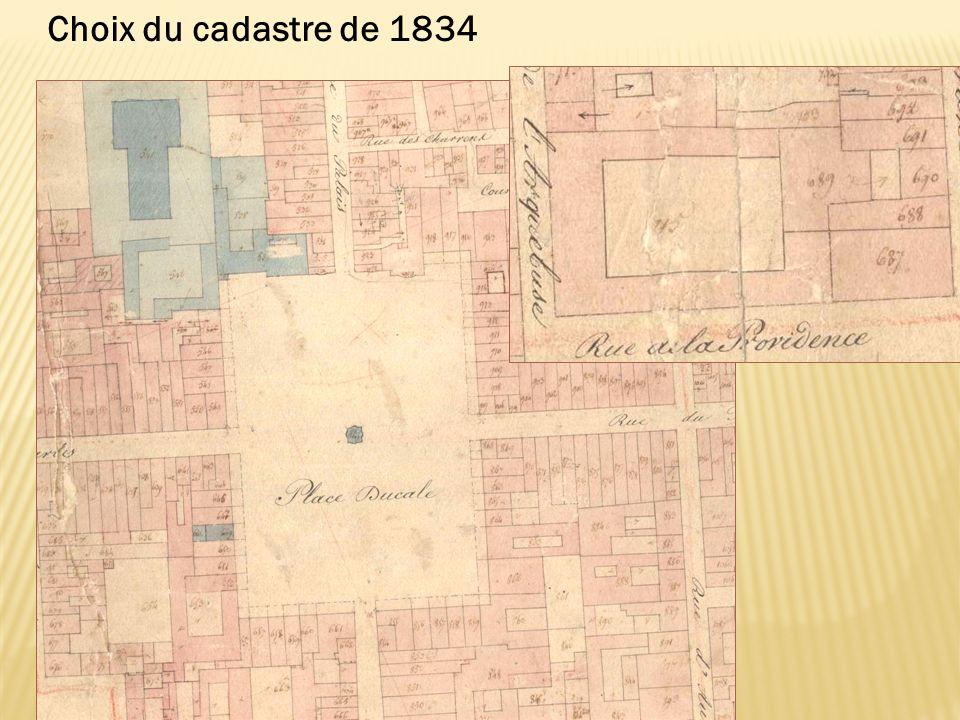 Choix du cadastre de 1834