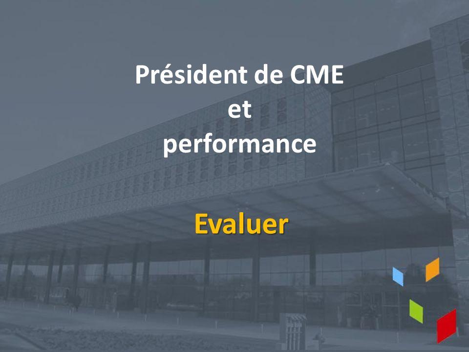 Président de CME et performance Evaluer