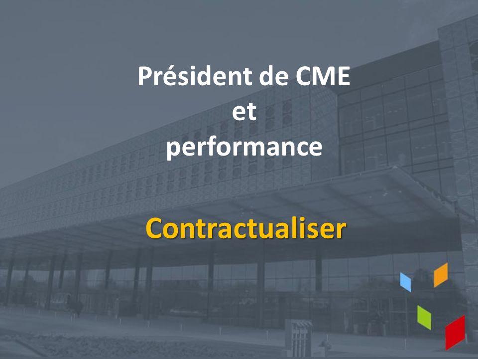Président de CME et performance Contractualiser