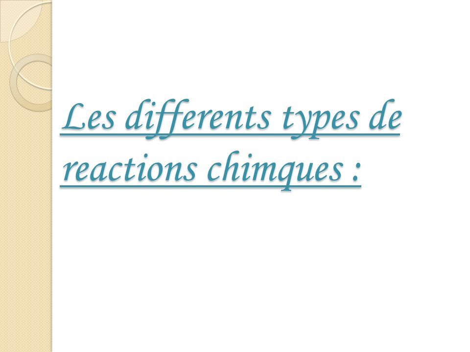 1- Reactions dunion directe : a) Lunion de deux elements : Le carbone (element non metallique) Sunit avec loxygene (element non metallique) formant le gaz dioxyde de carbone, on exprime cela par lequationchimique comme suit : Carbone + Oxygene Dioxyde de carbone Lunion de loxygene avec le magneesium est considere comme union directe