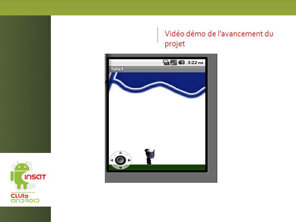 Vidéo démo de lavancement du projet