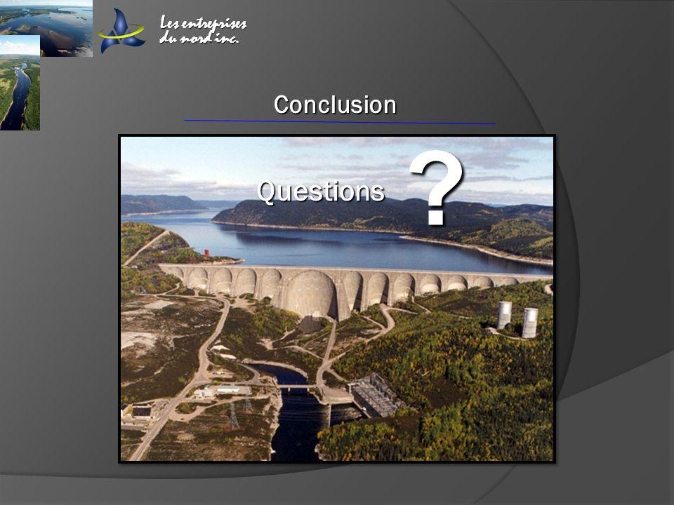 Les entreprises du nord inc. Conclusion Questions ? ?? ??