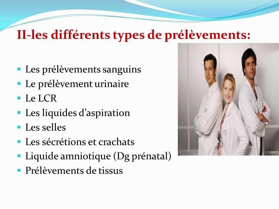 A* Prélèvements sanguins: Ils sont effectués sur : Un tube sec Un tube avec un anticoagulant Différentes variétés: Sang veineux Sang capillaire Sang artériel