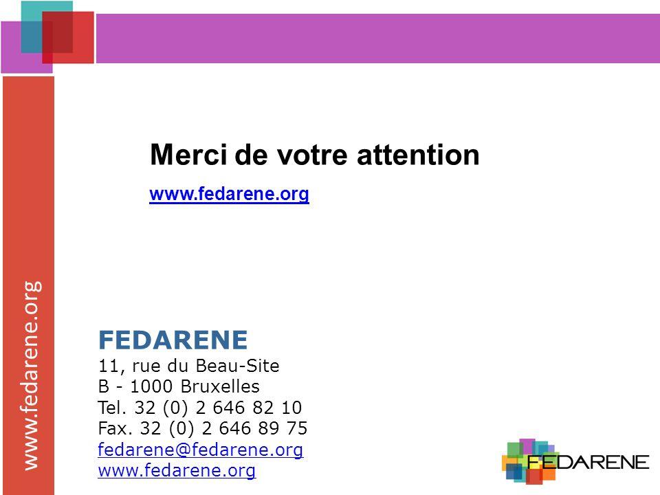 www.fedarene.org FEDARENE 11, rue du Beau-Site B - 1000 Bruxelles Tel.