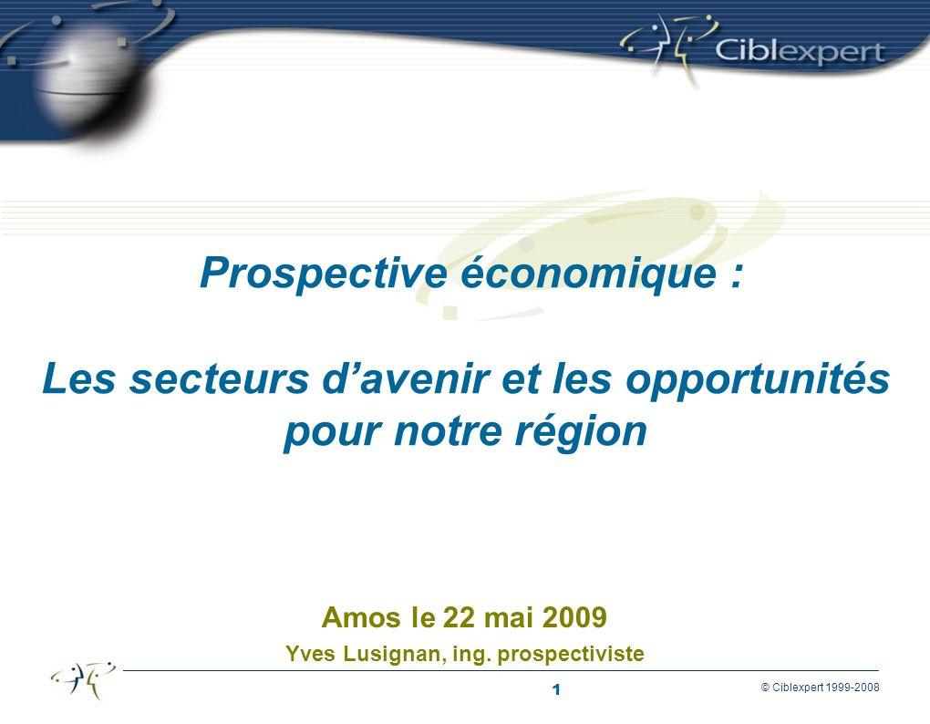 12 © Ciblexpert 1999-2008 Le défi de l OCDE Asie émergente 2006 PIB/cap > 5 000 $