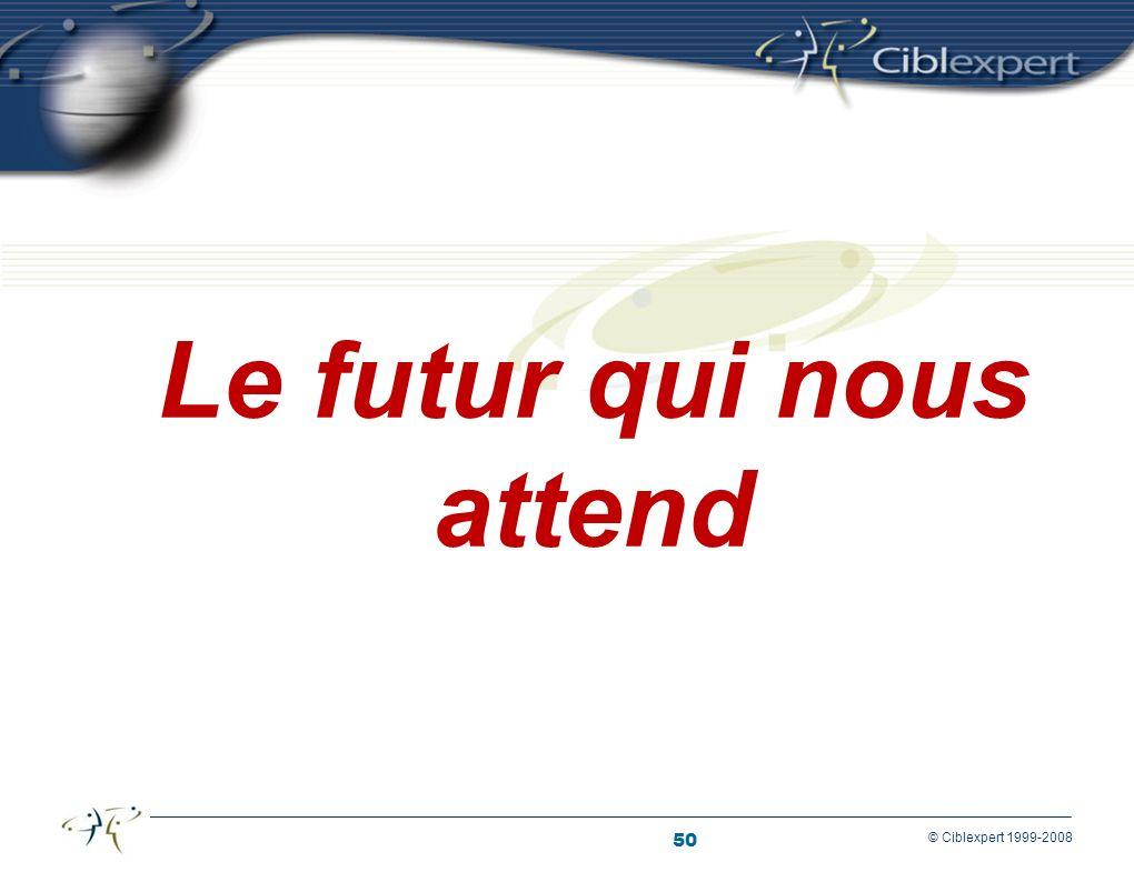 50 © Ciblexpert 1999-2008 Le futur qui nous attend