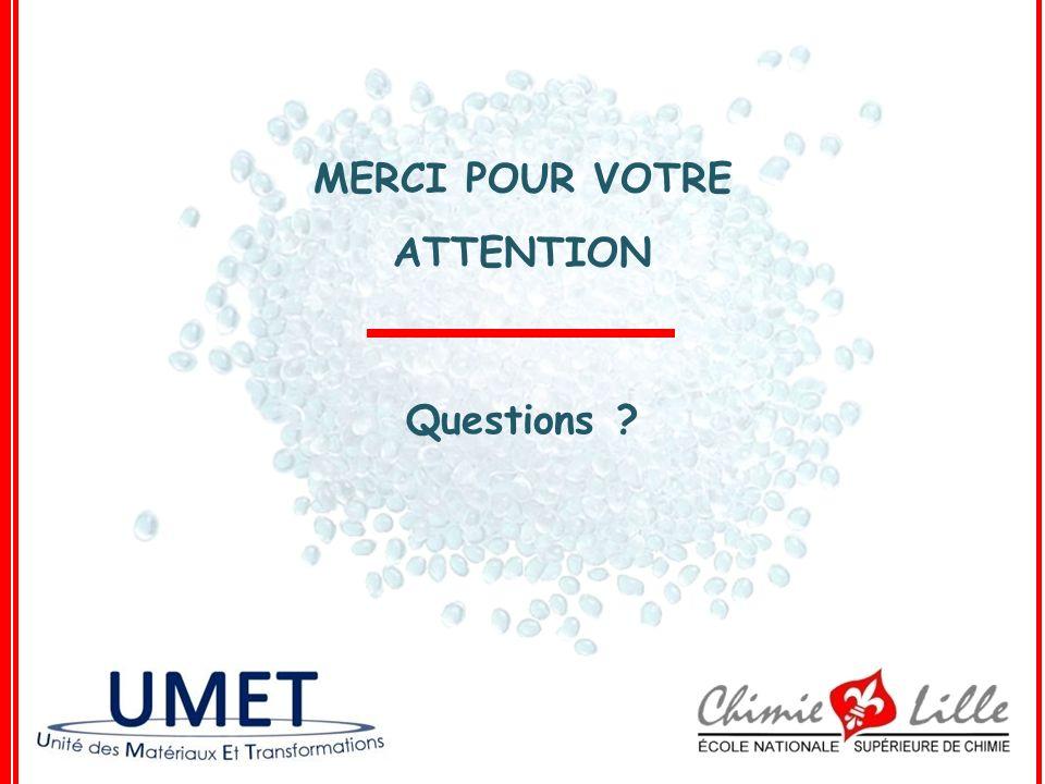 MERCI POUR VOTRE ATTENTION Questions ?