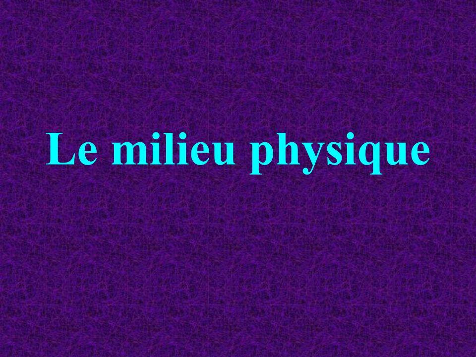Le milieu physique
