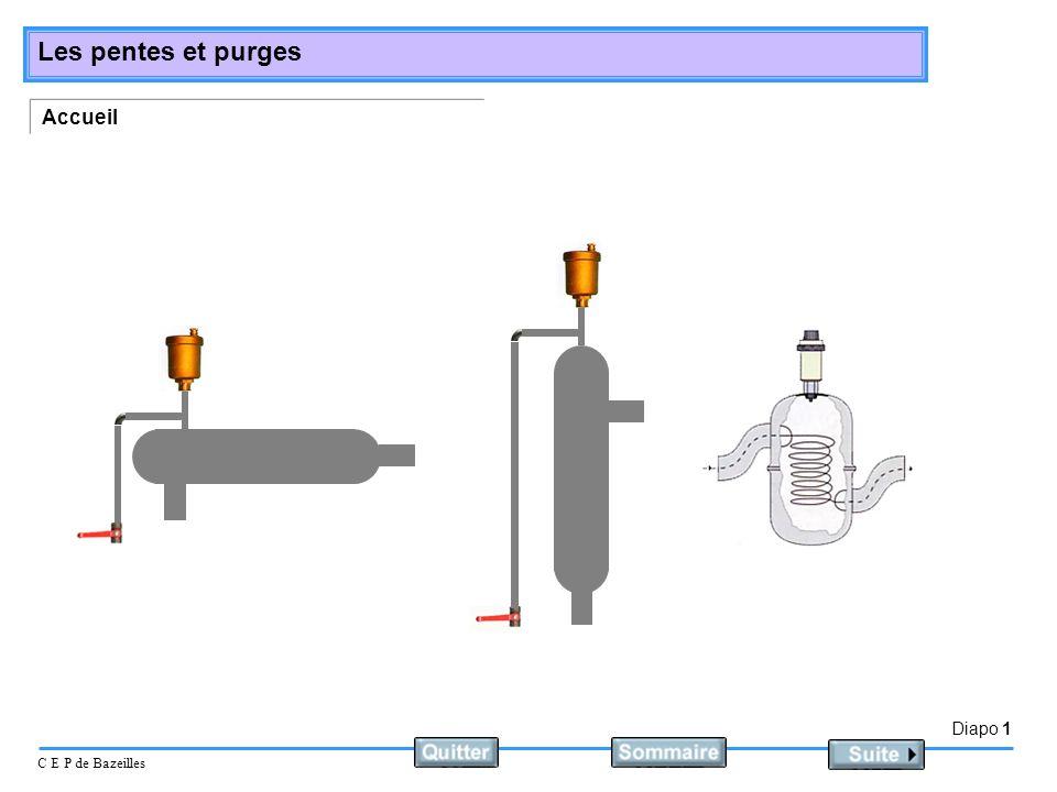 Diapo 1 C E P de Bazeilles Les pentes et purges Accueil