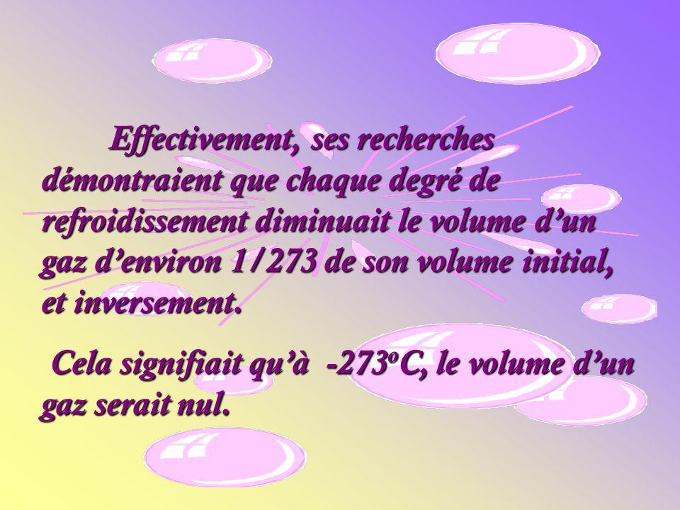 Le physicien français Gay-Lussac a fait beaucoup de recherches sur les gaz et découvrit que la variation du volume était directement proportionnelle à