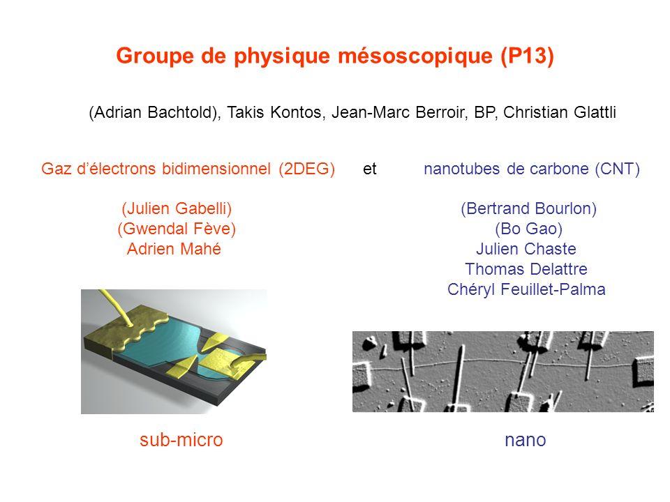 Groupe de physique mésoscopique (P13) (Julien Gabelli) (Gwendal Fève) Adrien Mahé (Adrian Bachtold), Takis Kontos, Jean-Marc Berroir, BP, Christian Gl