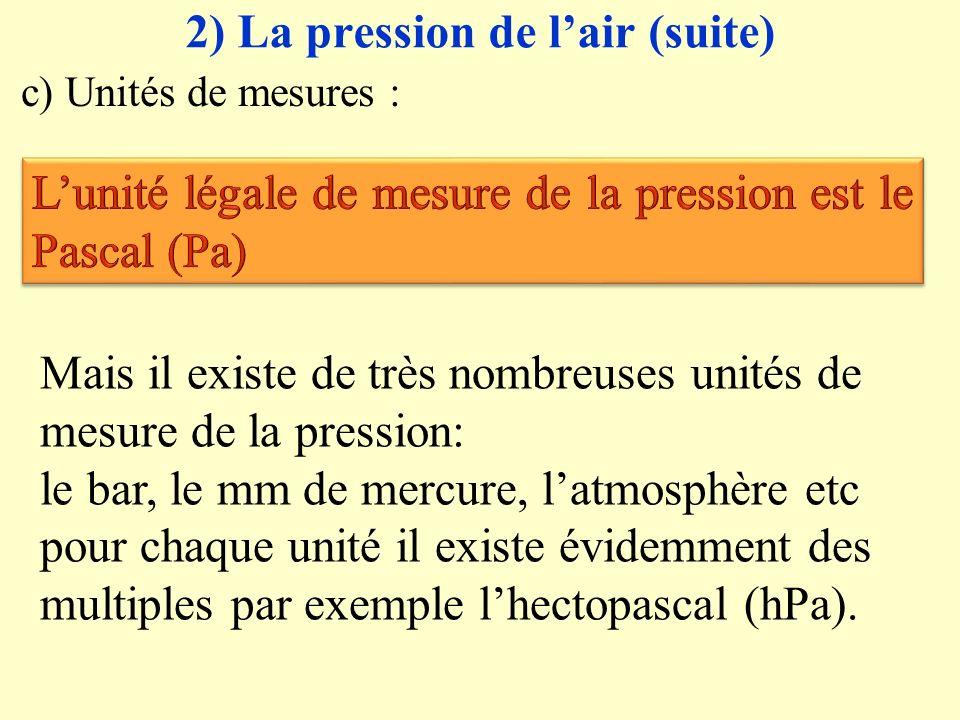 Le vent est le résultat de différences de pression entre les zones de haute pression (anticyclones) et les zones de basse pression (dépression)