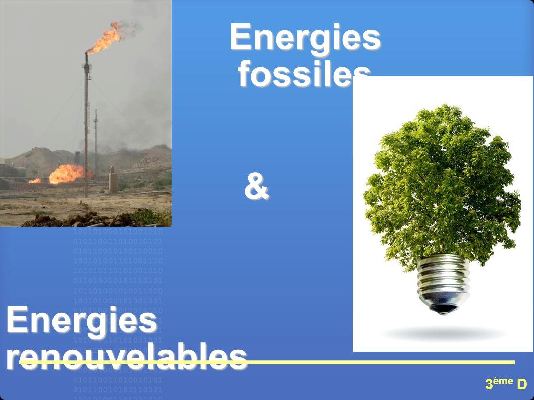 Energies fossiles Energies renouvelables & 3 ème D