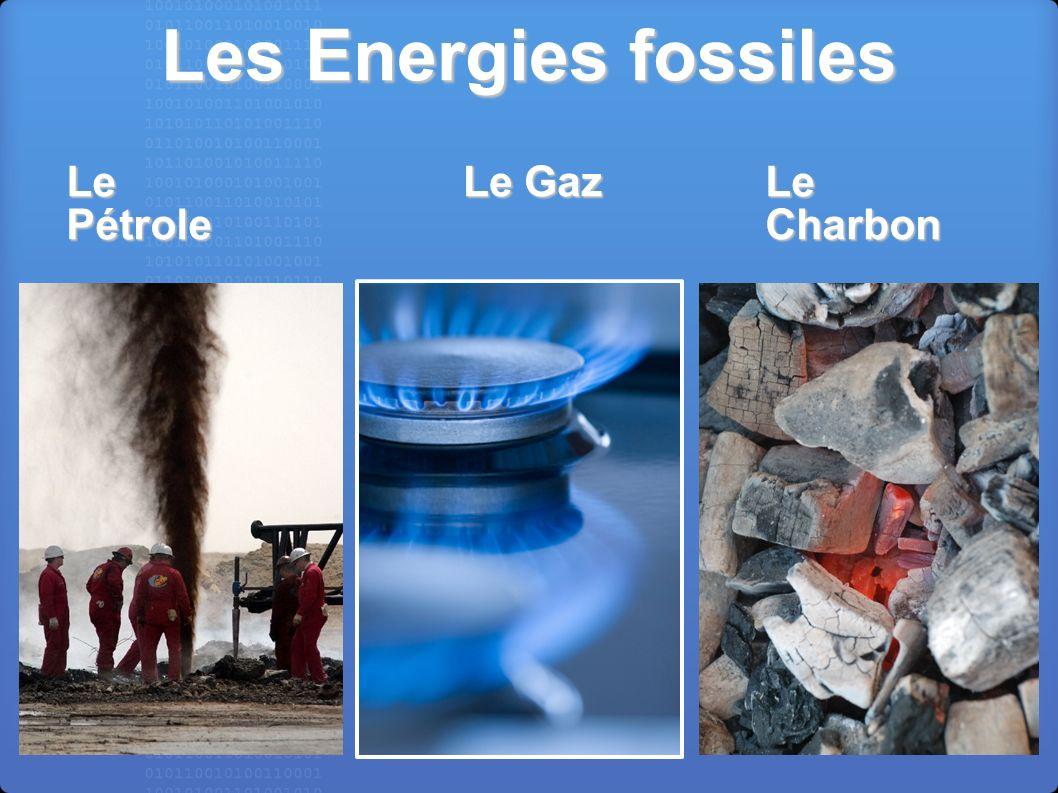 Les Energies fossiles Le Gaz Le Charbon Le Pétrole
