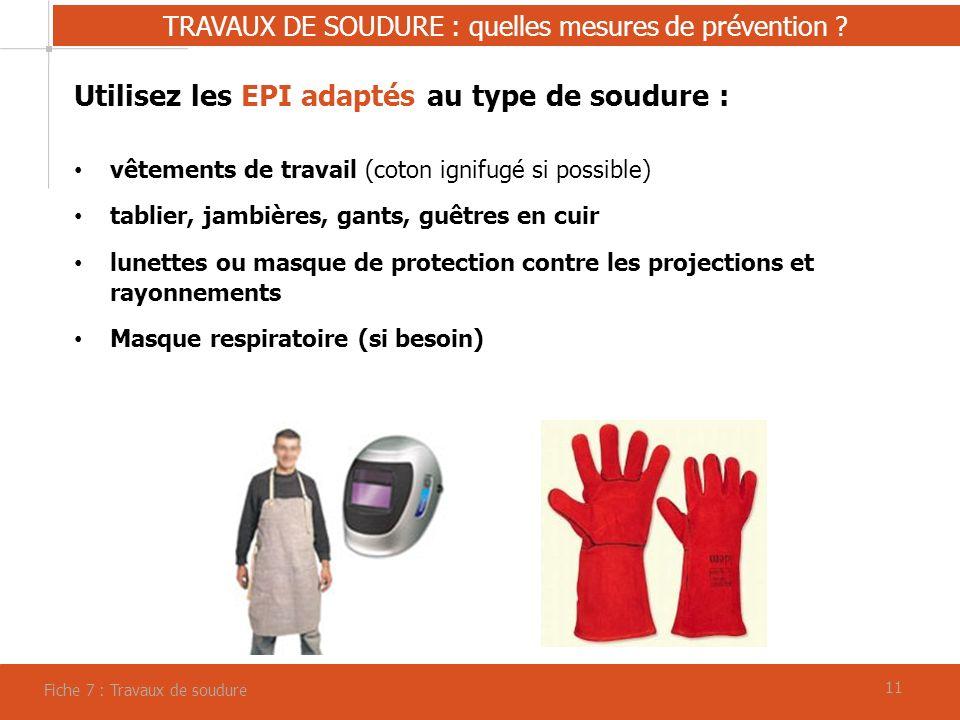 11 TRAVAUX DE SOUDURE : quelles mesures de prévention .