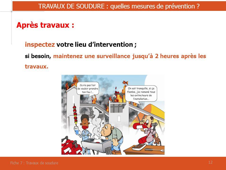 12 TRAVAUX DE SOUDURE : quelles mesures de prévention .