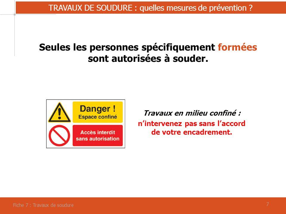 88 TRAVAUX DE SOUDURE : quelles mesures de prévention .
