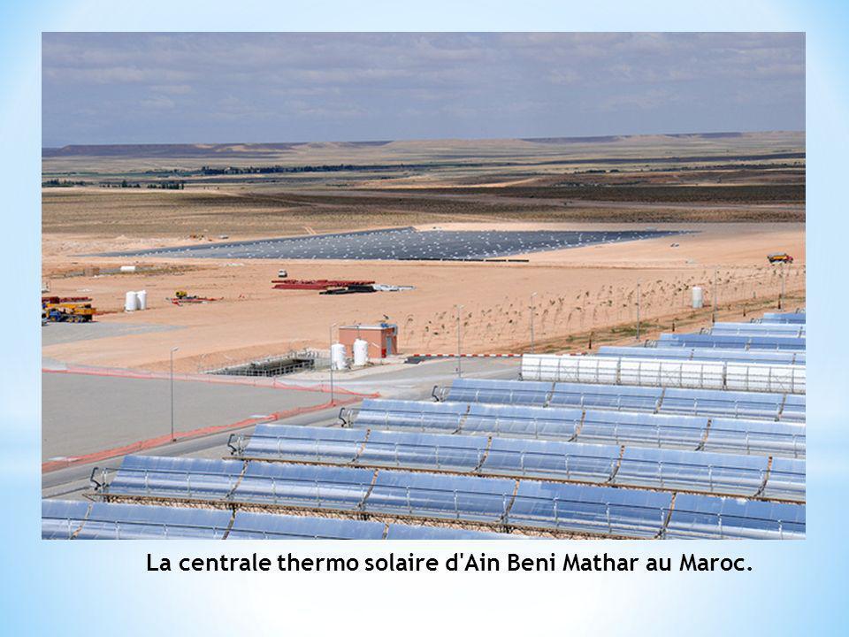 La centrale thermo solaire d'Ain Beni Mathar au Maroc.