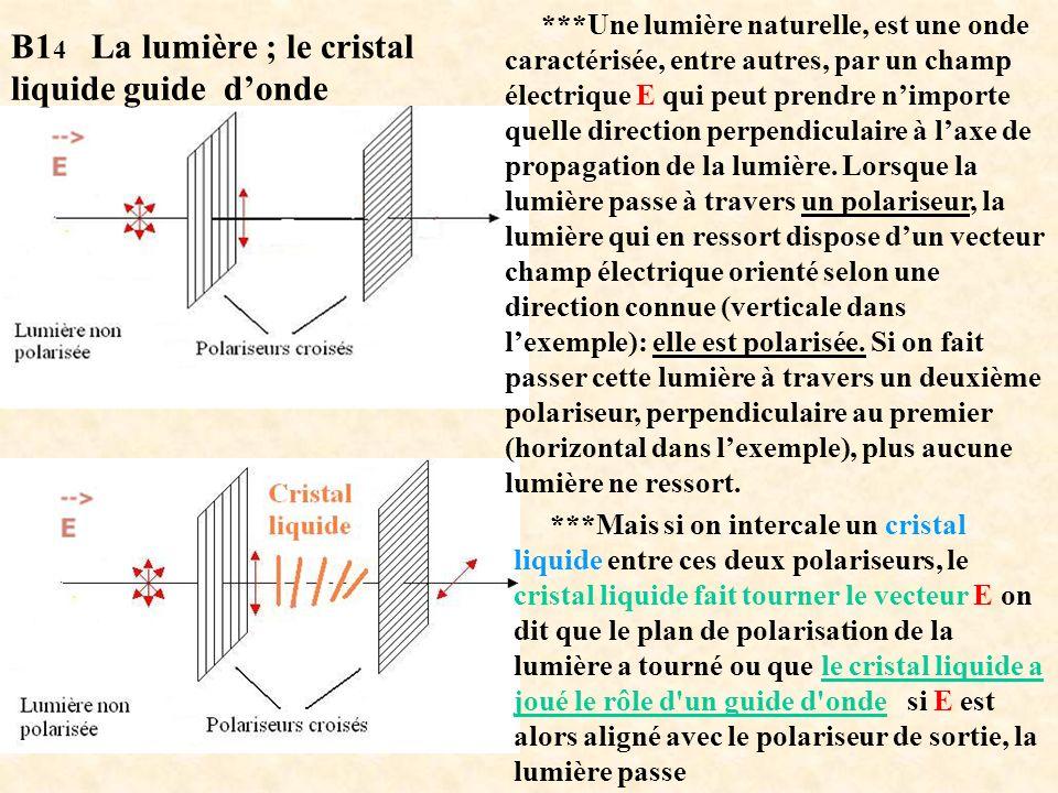 ***Une lumière naturelle, est une onde caractérisée, entre autres, par un champ électrique E qui peut prendre nimporte quelle direction perpendiculair