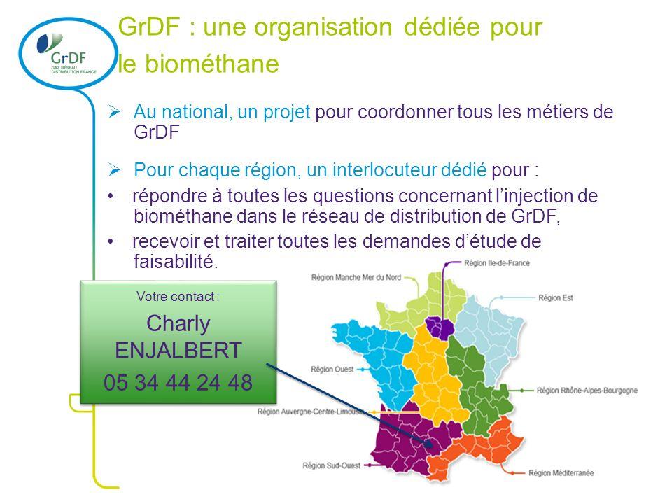 2 2 GrDF : une organisation dédiée pour le biométhane Au national, un projet pour coordonner tous les métiers de GrDF Pour chaque région, un interlocu