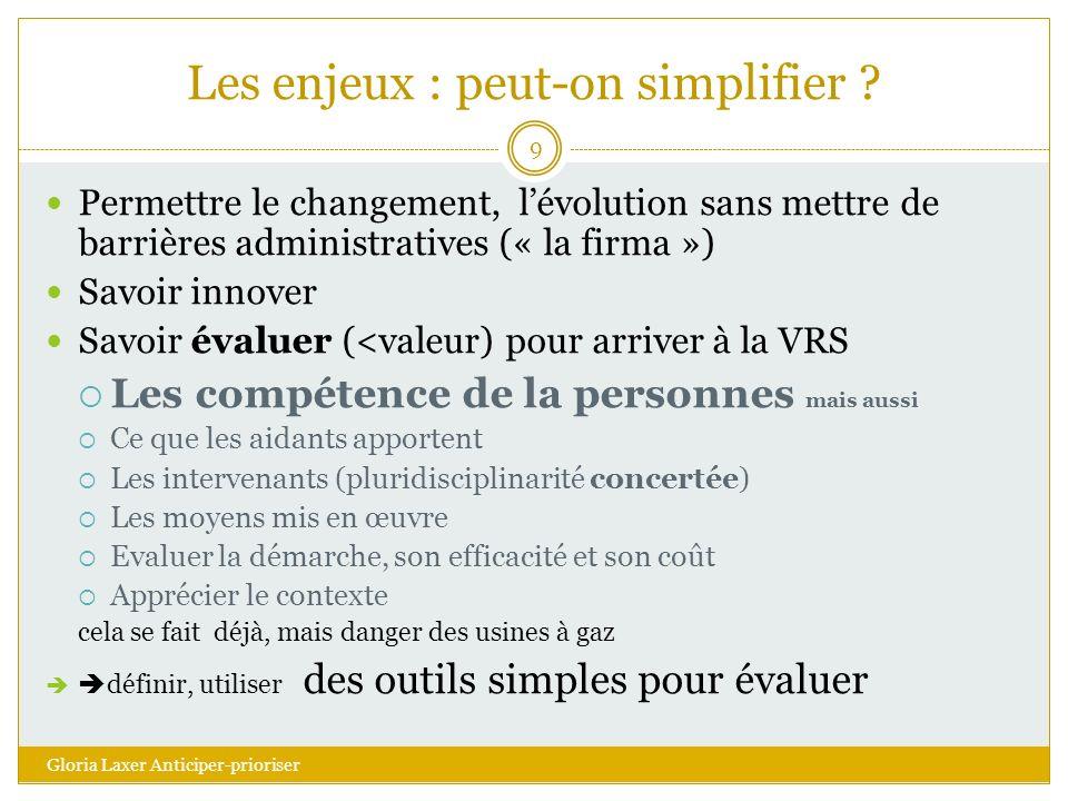 Les enjeux : peut-on simplifier .