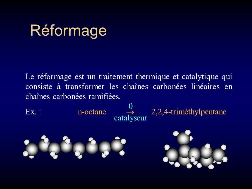Craquage Le craquage est un traitement thermique et catalytique qui consiste à rompre les molécules de fractions lourdes en molécules de fractions plu