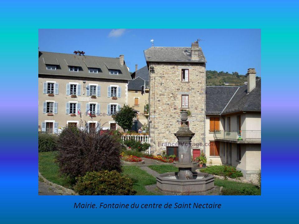 Mairie. Fontaine du centre de Saint Nectaire