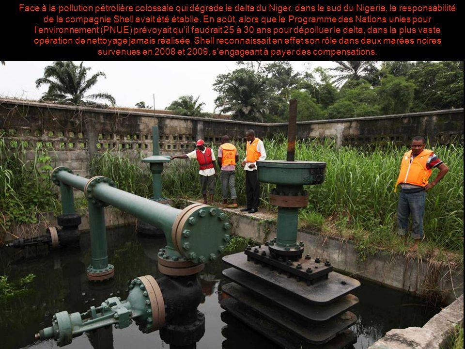 Pollution pétrolière au Nigeria : la justice néerlandaise condamne la filiale de Shell Le Monde.fr | 30.01.2013 à 12h02 Mis à jour le 30.01.2013 à 19h