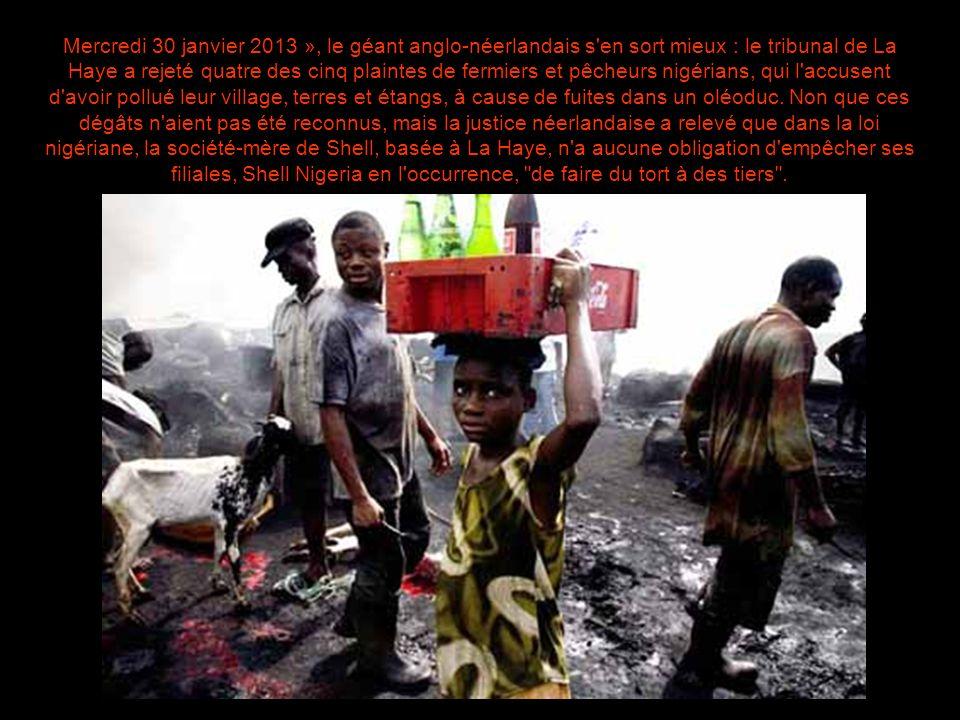 Face à la pollution pétrolière colossale qui dégrade le delta du Niger, dans le sud du Nigeria, la responsabilité de la compagnie Shell avait été étab