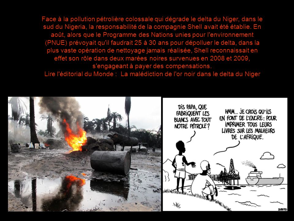 Une pollution terrible