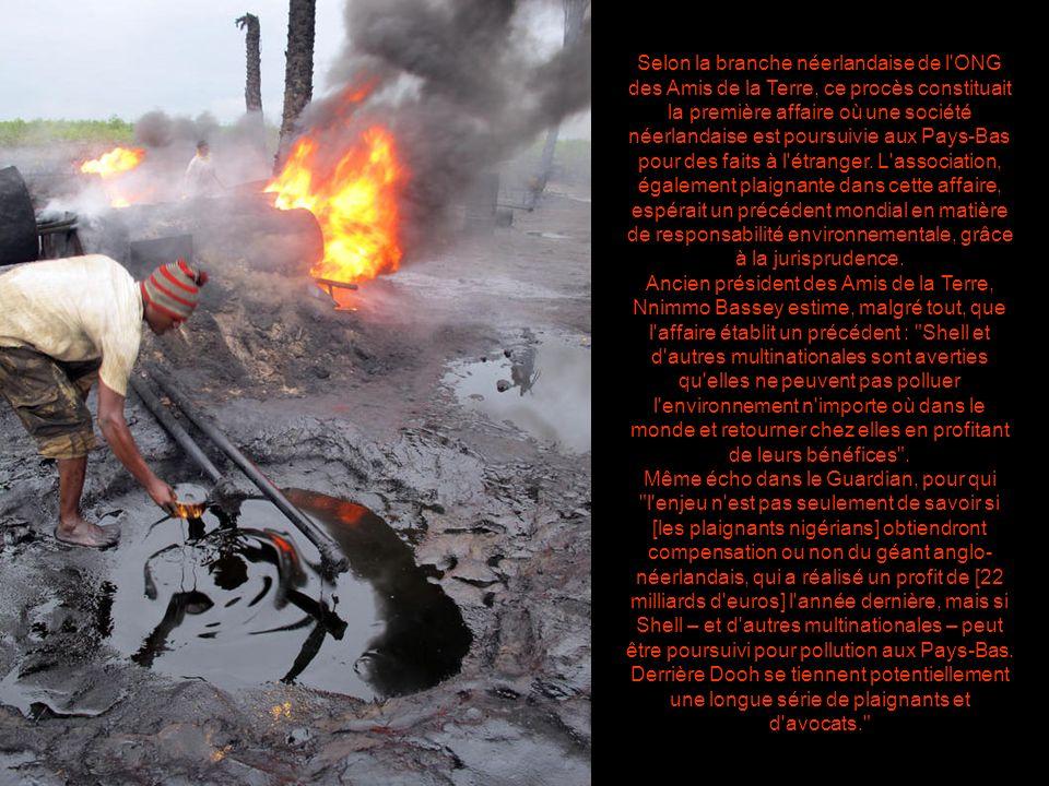 « On boit du pétrole, on mange du pétrole, on respire du pétrole ».